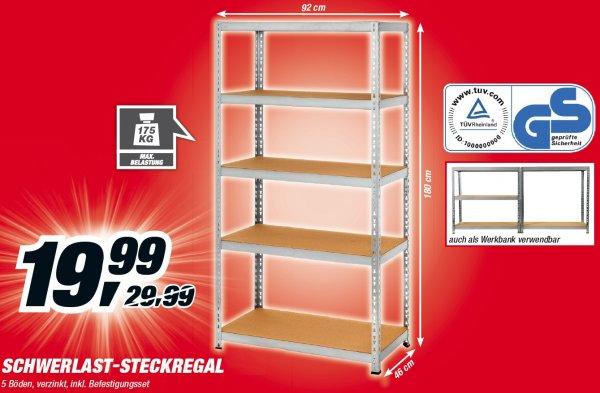 Schwerlastregal- Steckregal bei Toom bundesweit für 19.99€