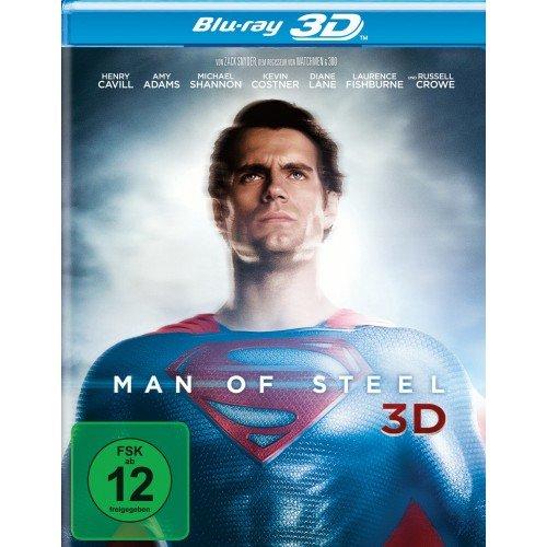 Nur heute - Man of Steel 3D Bluray oder Die Schlümpfe 2 (3D & 2D enthalten) für 9,99 € bei Filiallieferung @ Müller.de