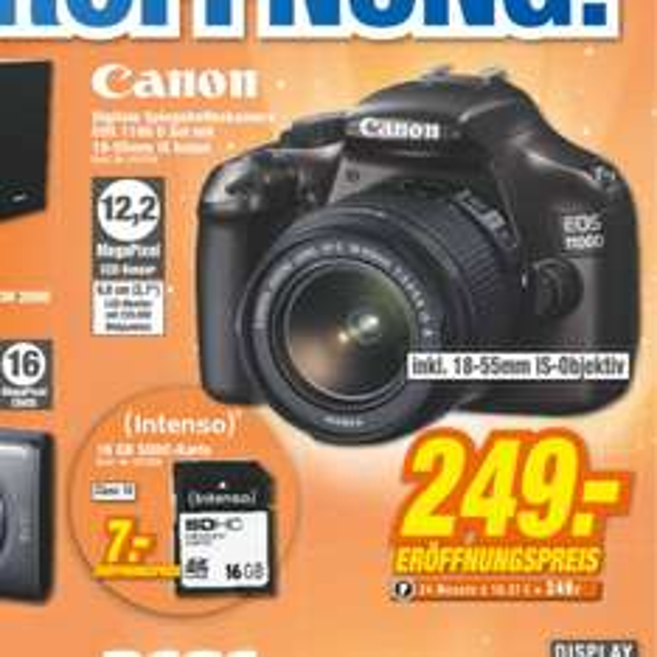 [Lokal] Canon EOS 1100D + 18-55mm Objektiv in braun