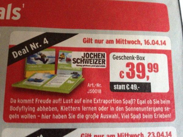 Jochen Schweizer Geschenk Box bei ATU am 16.04.