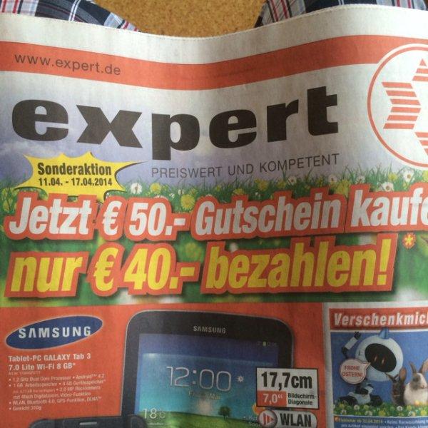 [Teilw. Lokal?] 50€ Expert Gutschein für 40€ [offline]