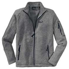 Jack Wolfskin Caribou Lodge Men Strickfleece grau - Intersport Voswinkel