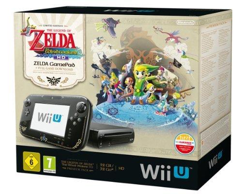 Nintendo Wii U - Konsole, Premium Pack, 32GB, schwarz + The Legend of Zelda@Amazon Blitzangebote