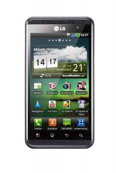 LG Optimus 3D P920 - 8 GB - Schwarz (Ohne Simlock) Smartphone mit 3D Bildschirm