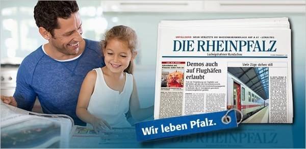 Zeitung: Die Rheinpfalz 14 Tage kostenlos