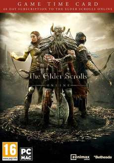 ESO - Elder Scrolls Online - 60 Days Game Time Card 19,99€ / Idealo 22,75€