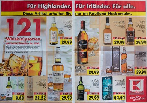 [LOKAL] Scotch Whisky-Angebote @ Kaufland Neckarsulm / z. B. Arbgen Ten für 29,99
