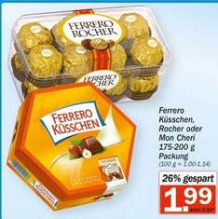 [HIT] Ferrero Küsschen, Rocher oder Mon Cherí