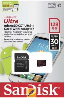 SanDisk Ultra 128 GB microSDXC UHS-I Retail inkl. Adapter @ Mindfactory