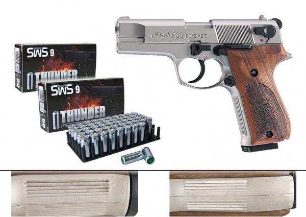 Gaspistole Walther P88 Comp. nickel, 2. Wahl + 100 Schuss @ Sportwaffen Schneider, für nur 178,90 € incl. VSK