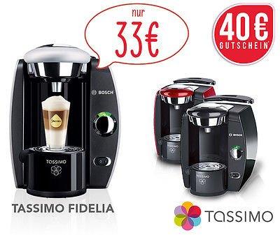 Bosch Tassimo Fidelia T42 + 40€ Kapsel-Guthaben für 33€ — Multi-Getränke-Automat