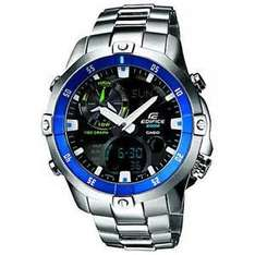 [Amazon.co.uk] Casio Edifice EMA-100D-1A2VEF,Edelstahlarmband,Super-Illuminator,Weltzeit,Thermometer,3jahres Batterie