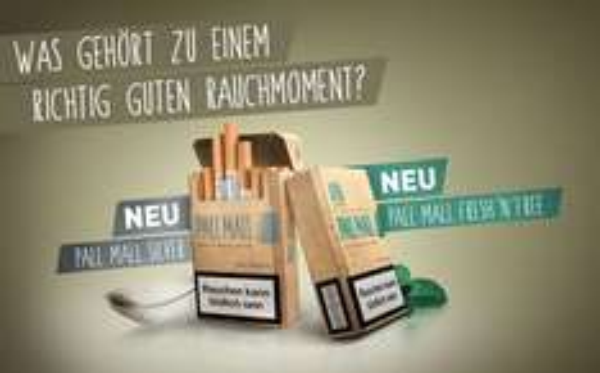 Kostenlose Packung Pall Mall-Zigaretten