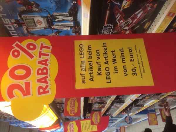 Toys-R-us 20% auf alle Lego Artikel oder Playmobil 2 kaufen 50% auf das günstigste