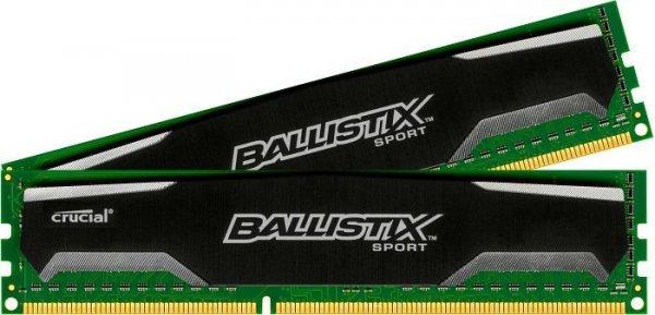 Crucial Ballistix Sport DIMM Kit 16GB, DDR3-1600, CL9-9-9-24 für 104,85€ inkl. VSK @ZackZack