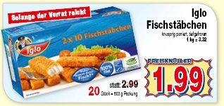 Iglo Fischstäbchen 20 Stück !  1,99€ Kaufpark (NRW)