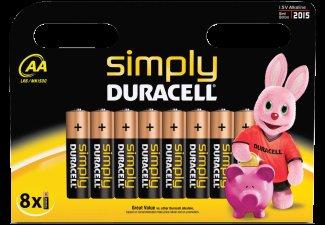 DURACELL 8er AA Batterie oder 8er AAA Batterie für 3€ inkl Versand @ MediaMarkt.de