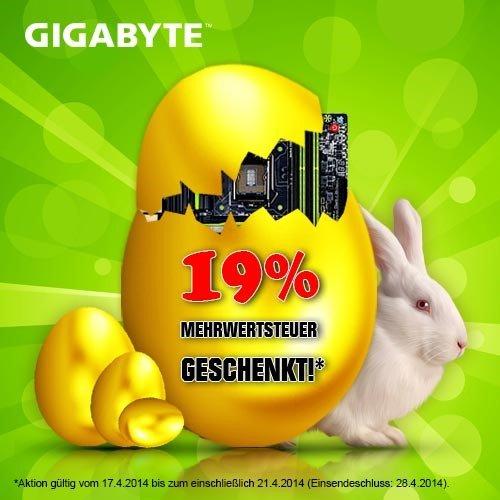 """GIGABYTE Oster Aktion """"19% Mehrwertsteuer Geschenkt!"""