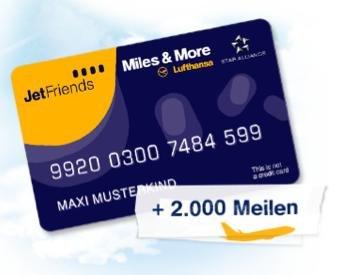 Lufthansa JetFriends Club Karte + 2.000 Meilen Kostenlos für Kinder von 11-17 Jahren