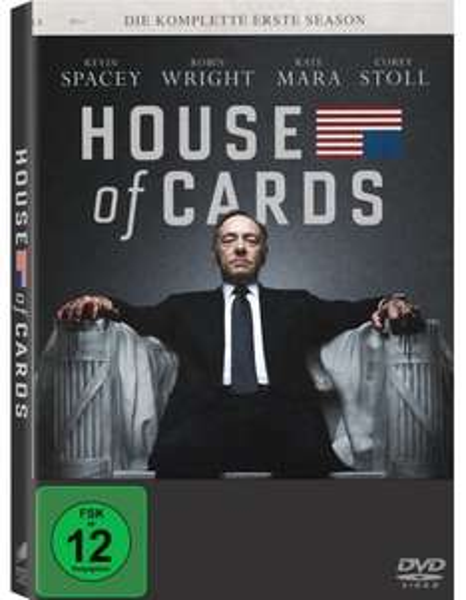 [Buch.de/DVD]  House of Cards - Die komplette erste Season ab 14,99€