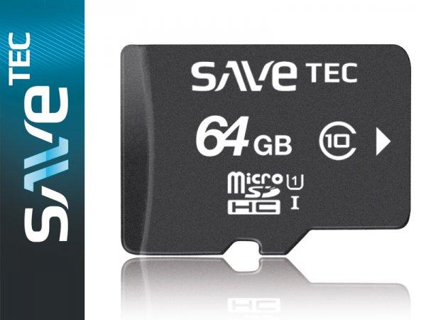 64 GB SaveTec micro SDXC C10 U1 UHS-1 bis 50MB/s für Samsung Canon Nikon Sony Digital (64 GB)