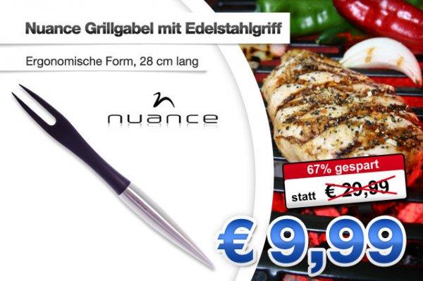 Nuance Grillgabel mit Edelstahlgriff für 9,99€