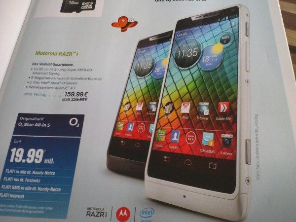 -Lokal Leipzig- Motorola Razr i 159,99 €!!! in Schwarz