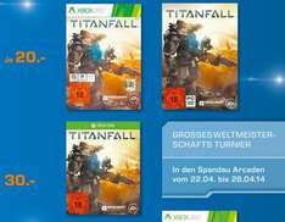 Lokal - Titanfall (Xbox/PC) für 20€ / Xbox One für 30€ @Saturn Spandau