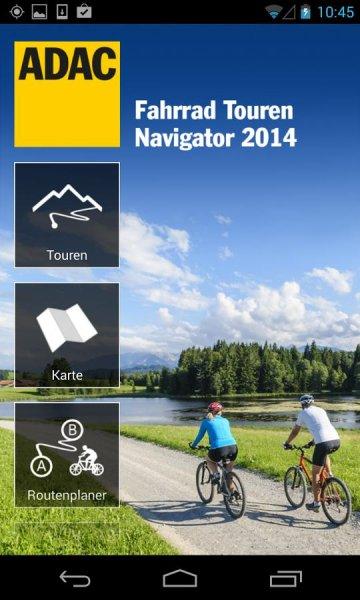 ADAC Fahrrad Touren Navigator Über Google Play Store