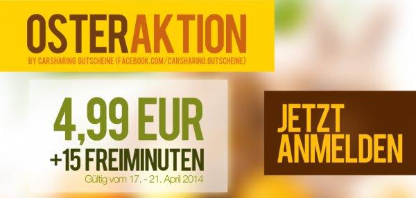 Osteraktion: DriveNow Anmeldung + 15 Freiminuten für 4,99 EUR