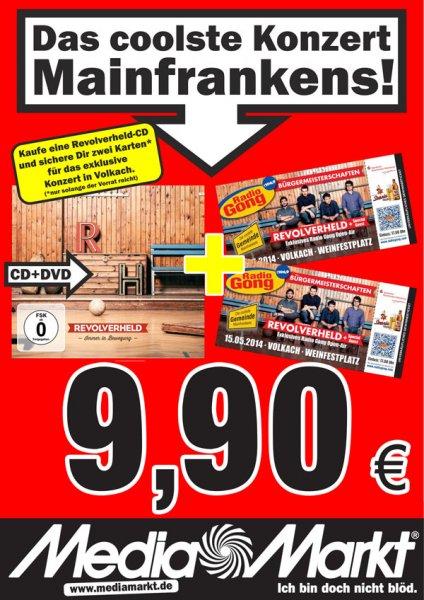 Lokal Würzburg/Volkach: Revolverheld CD+DVD kaufen + 2 Konzerttickets geschenkt.