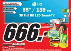 [Lokal Lingen] LG 55LA6208  55 Zoll Cinema 3D LED-Backlight-Fernseher, EEK A+  Full HD, 200Hz MCI, WLAN, DVB-T/C/S, Smart