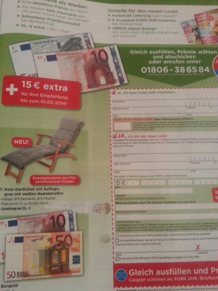 1 Jahr Funk Uhr mit 17,80 Euro Gewinn