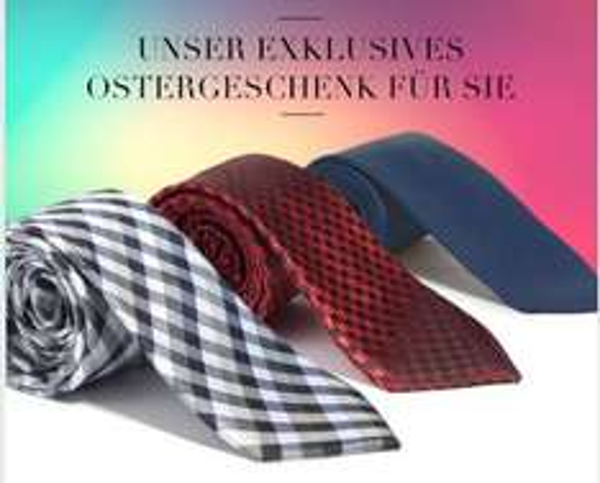 Drei Krawatten aus 100% Seide - Osterüberraschung @YOUTAILOR - 9,90€ inkl. VSK