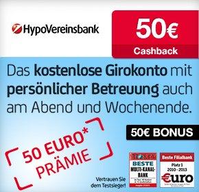 Wieder da: HypoVereinsbank: 50€ Startguthaben + 50€ Qipu Cashback