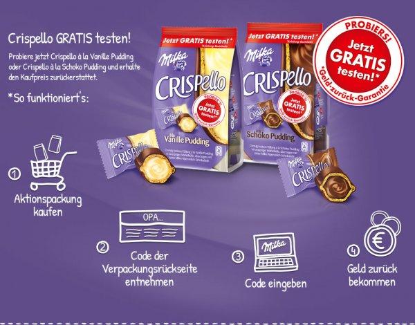 CASHBACK: Milka Crispello kostenlos testen