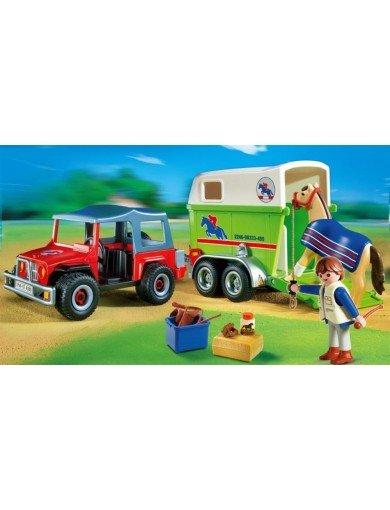 19,94 für Playmobil 4189 Geländewagen mit Pferdeanhänger