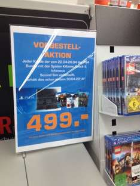 Saturn Norderstedt/Hamburg PS4 Vorbestell Aktion PS4 ab 30.4. lieferbar
