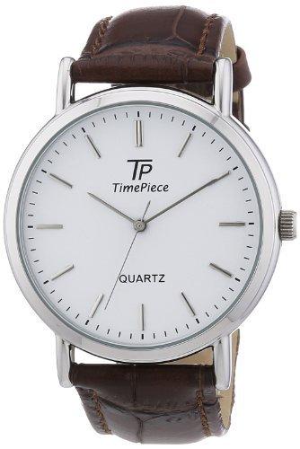 TP Time Piece Herren-Armbanduhr XL Classic Analog Quarz Leder TPGA-32335-11L