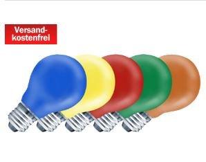 MEDIAMARKT 5 Stück -  E27 Partyleuchtmittel  nur 3 € - Versandkostenfrei -  optischer Rauchmelder- 3 € Stück