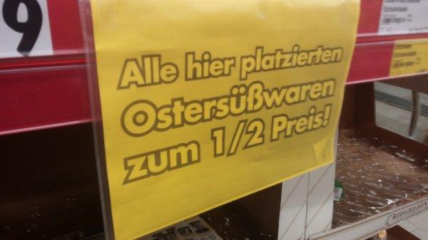 [Bundesweit?]Kaufland: Ostersüßigkeiten 50% Reduziert