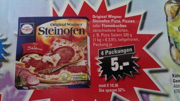 [Saarland] 4x Original Wagner Steinofen Pizza für 5,00€ @ EDEKA (effektiv 1,25€ pro Pizza)