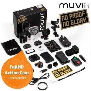 """Veho MUVI HD 1080p Action-Kamera mit 1,5 """"LCD und umfangreichen Zubehör"""