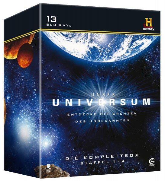 [amazon.de] Unser Universum - Die Komplettbox, Staffel 1-4 (13-Discs) [Blu-ray] ohne Vsk für 26,97 €