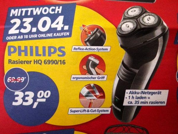 (off&online) real,- Phillishave HQ 6990/16 für 33€ nur am 23.04