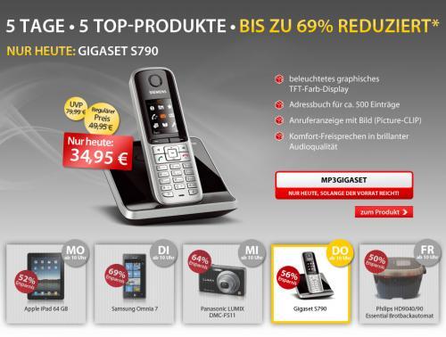 Schnurlostelefon SIEMENS GIGASET S790 für 34,95 € zzgl. 3,95 Versand