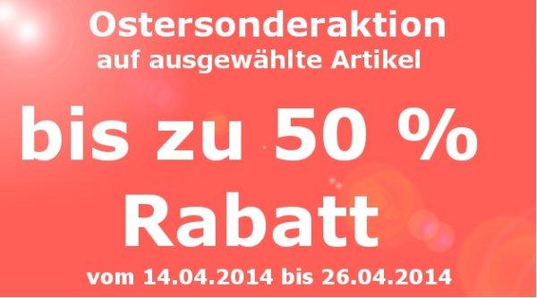 Ostersonderaktion - bis zu 50% Rabatt im Kock Onlineshop (Heimtextilien)