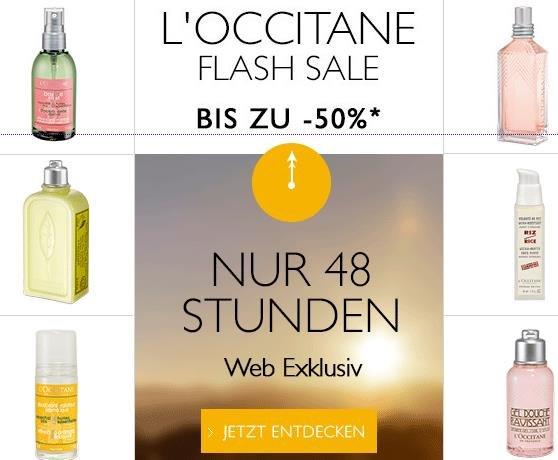 50% Rabatt beim Flash Sale von L'Occitane (gilt nur für 48 Stunden)