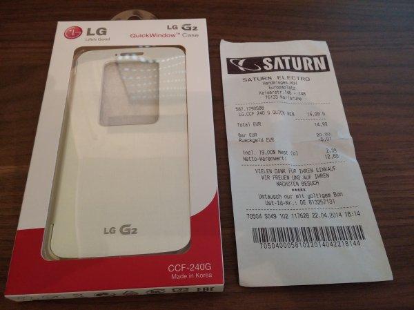 [Lokal] Karlsruhe Saturn - LG QuickWindow weiß für das LG G2 (CCF-240G) für 14,99€