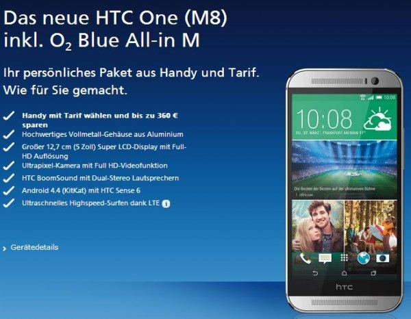 HTC One M8 oder Samsung Galaxy S5 für einmalig 49€ im o2 Blue All-in M JUNGE LEUTE!